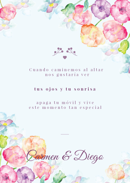 boda unplgged | invitación